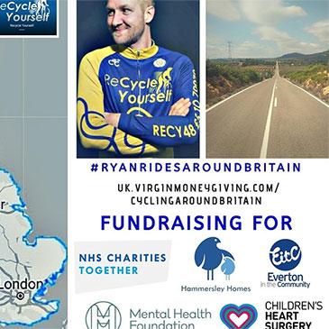 Ryan Anderton Cycling Around Britain